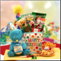 Birthday Surprise Gift tote w/ Musical Bear