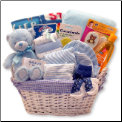 Simply Baby Necessities Basket - Blue