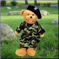 American Hero Army Bear Plush Gift Package