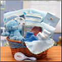 Simply The Baby Basics New Baby Gift Basket - Blue
