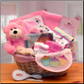 Simply The Baby Basics New Baby Gift Basket - Pink