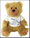 Dear Dad Plush Bear