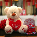Love & Kisses Valentine Teddy Bear Gift Set