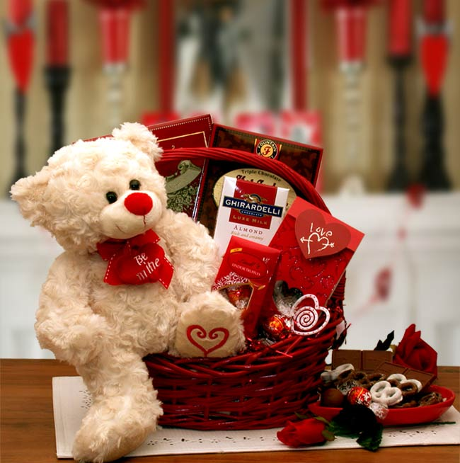 Say You'll Be Mine Valentine's Day Gift Basket, Valentine's Day Gift Packages