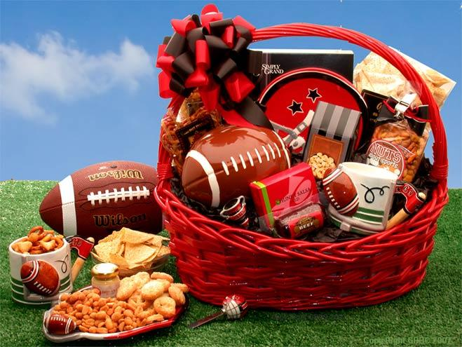 Sports Gift Baskets, Free Ground Shipping