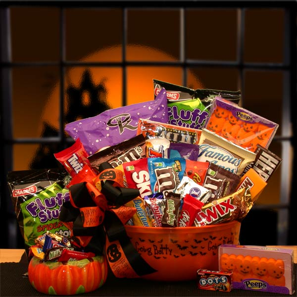 No Tricks Just Treats Halloween Goodie Gift Pail