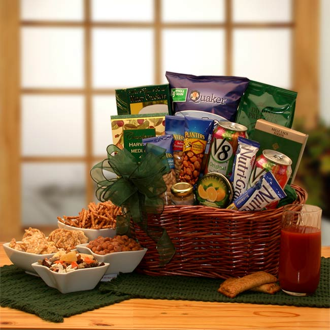Healthy Gift Baskets, Free Ground Shipping