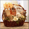 Vanilla Luxuries Bath and Body Basket
