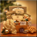 Golden Gourmet Holiday Gift Basket