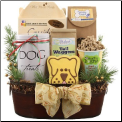 Holiday Sophisticated Dog Gift Basket