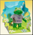 Feel Better Hoppy the Frog Plush Gift Package