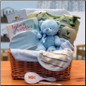 Organic New Baby Basics Gift Baskets - Blue
