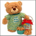 Get Well Soon Teddy Bear & Cookie Pail