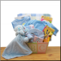 Easy as ABC New Baby Gift Basket - Blue