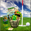 Golfers Caddy Treats Gift Basket