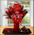 You're My Hearts Desire Chocolate Valentine Bouquet