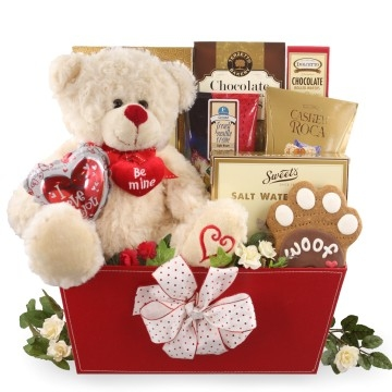 Dog Lover Valentine's Day Gift Baskets