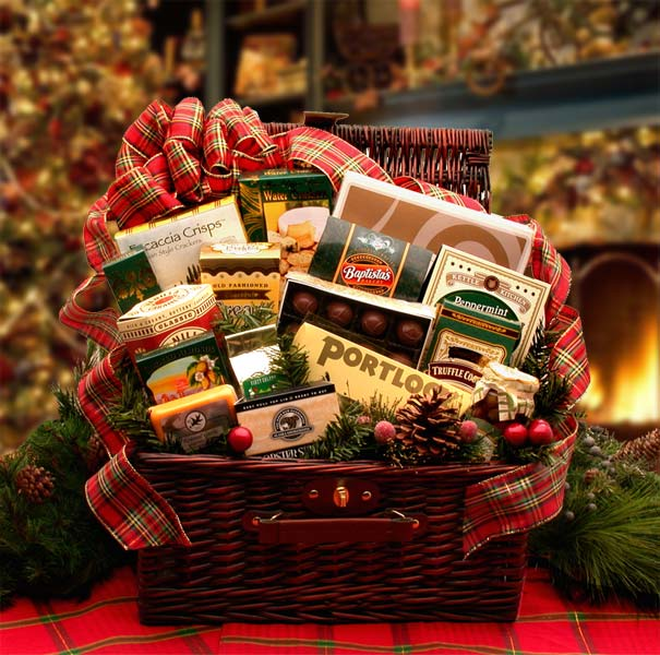 Christmas Gift Baskets, Free Ground Shipping