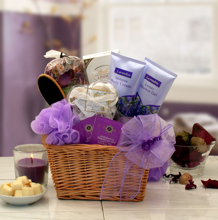 Lavender Relaxation Spa Gift Basket